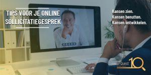 online sollicitatiegesprek
